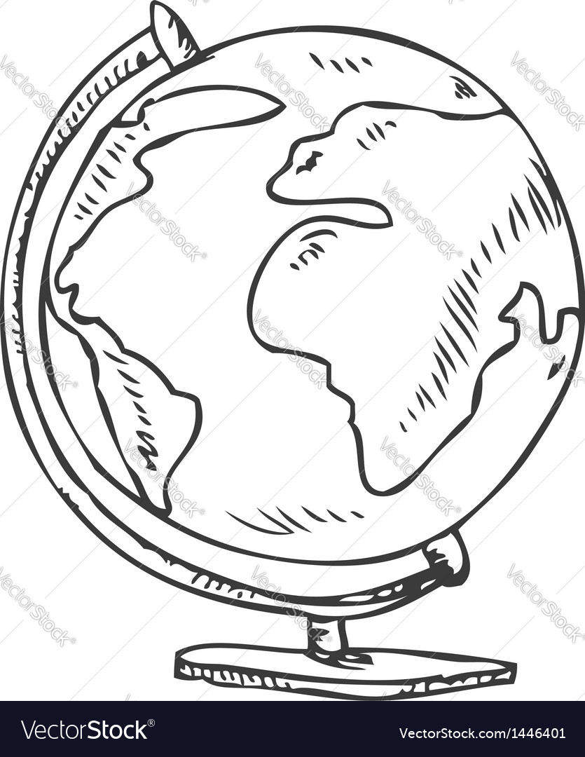 Globe doodle vector | Price: 1 Credit (USD $1)