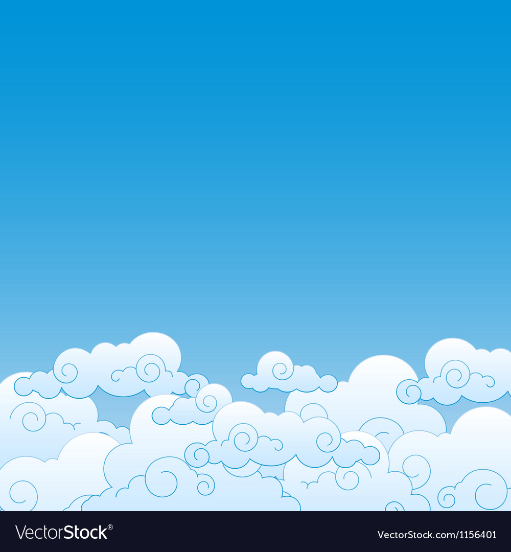 Good weather background blue sky with clouds vector | Price: 1 Credit (USD $1)