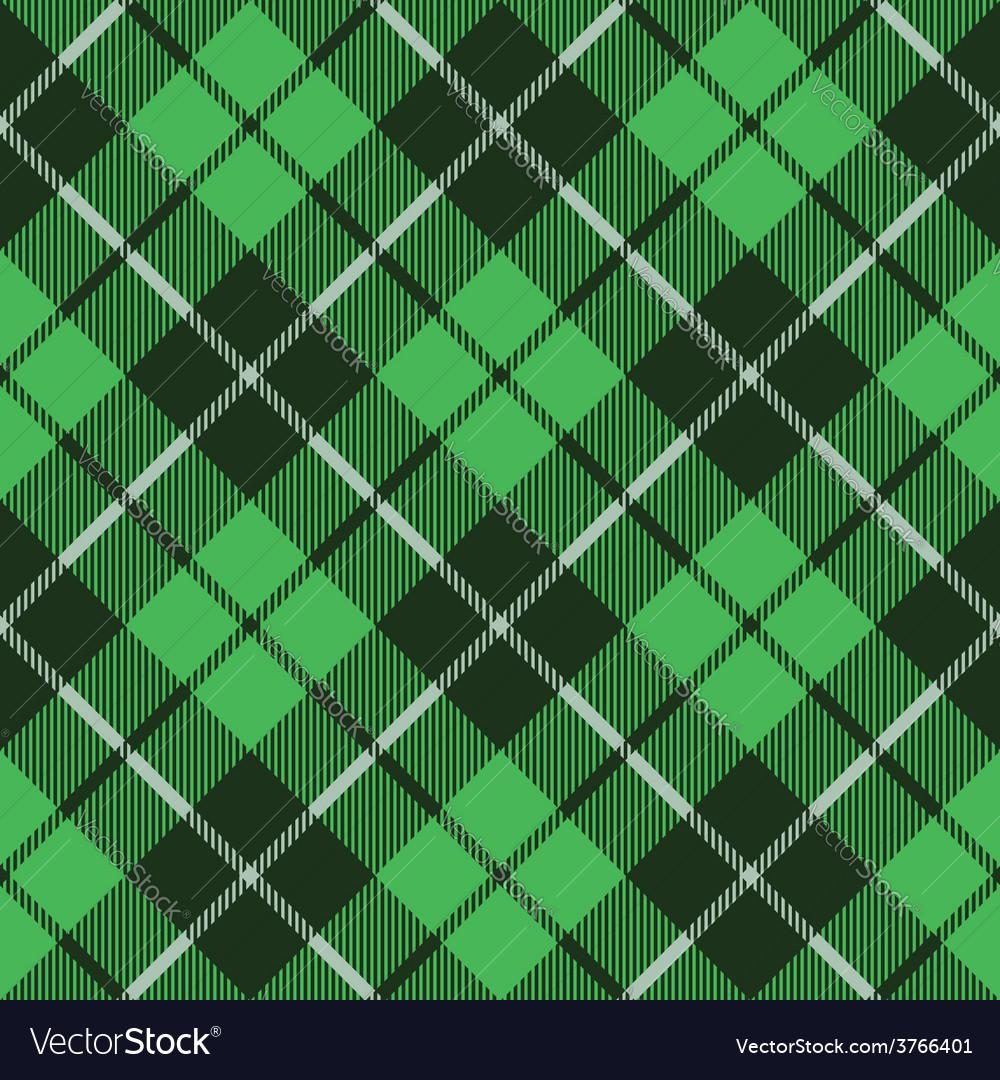 Green tartan fabric texture diagonal little vector | Price: 1 Credit (USD $1)