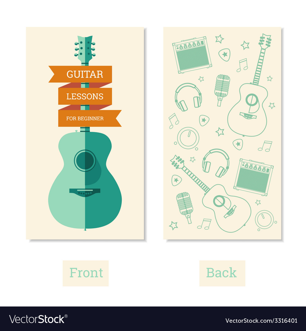 Guitar lessons vector | Price: 1 Credit (USD $1)