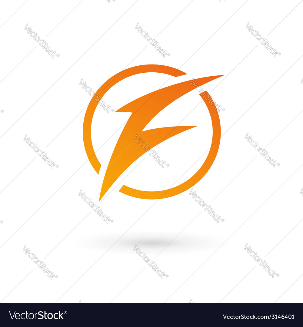 Letter f lightning logo icon vector | Price: 1 Credit (USD $1)