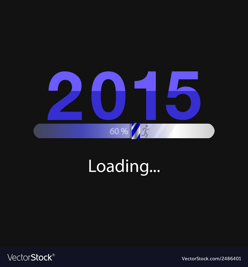 New year 2015 loading background vector | Price: 1 Credit (USD $1)