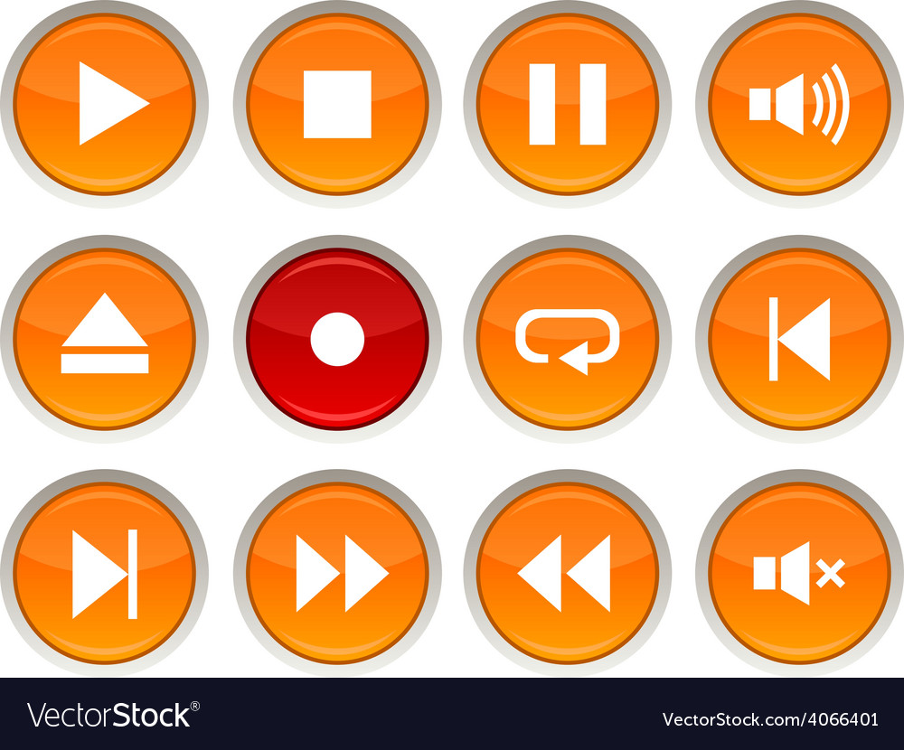 Player icons vector | Price: 1 Credit (USD $1)
