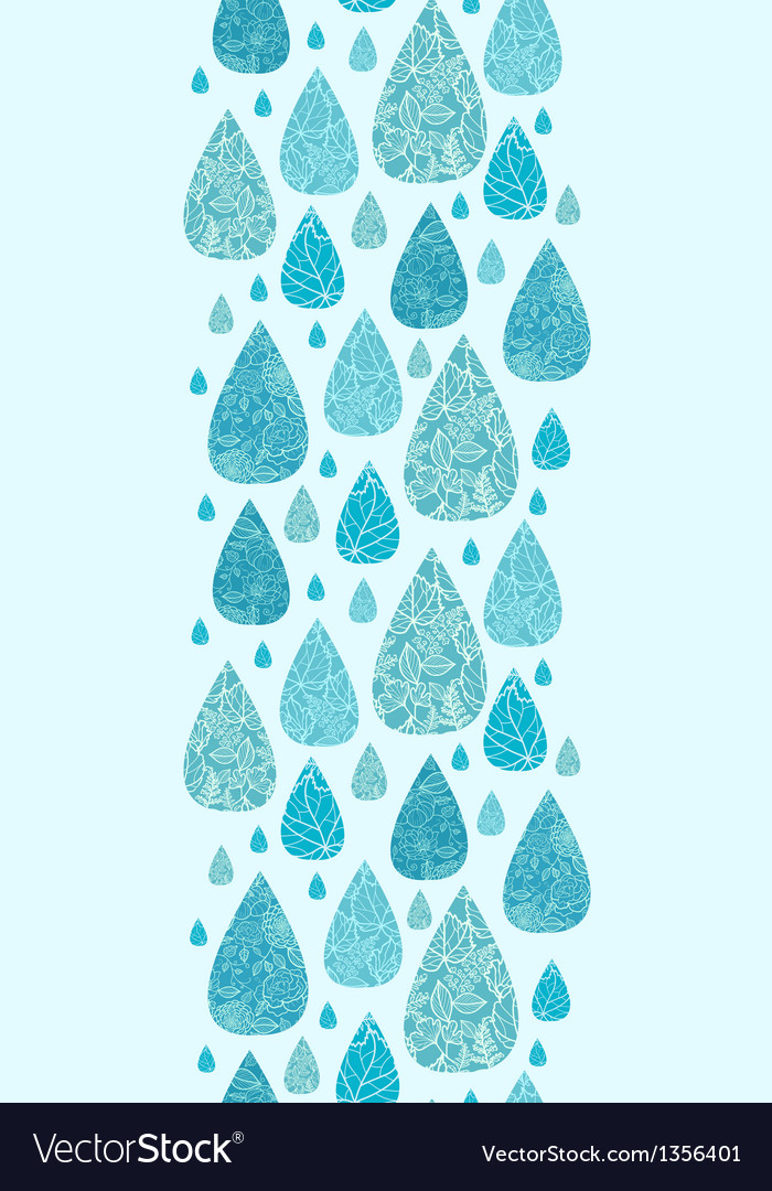 Rain drops textured seamless pattern background vector | Price: 1 Credit (USD $1)