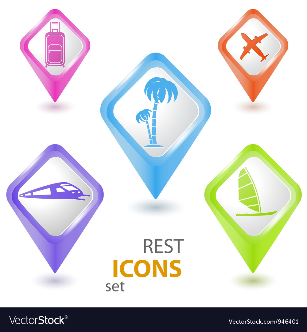 Rest pointer set vector | Price: 1 Credit (USD $1)
