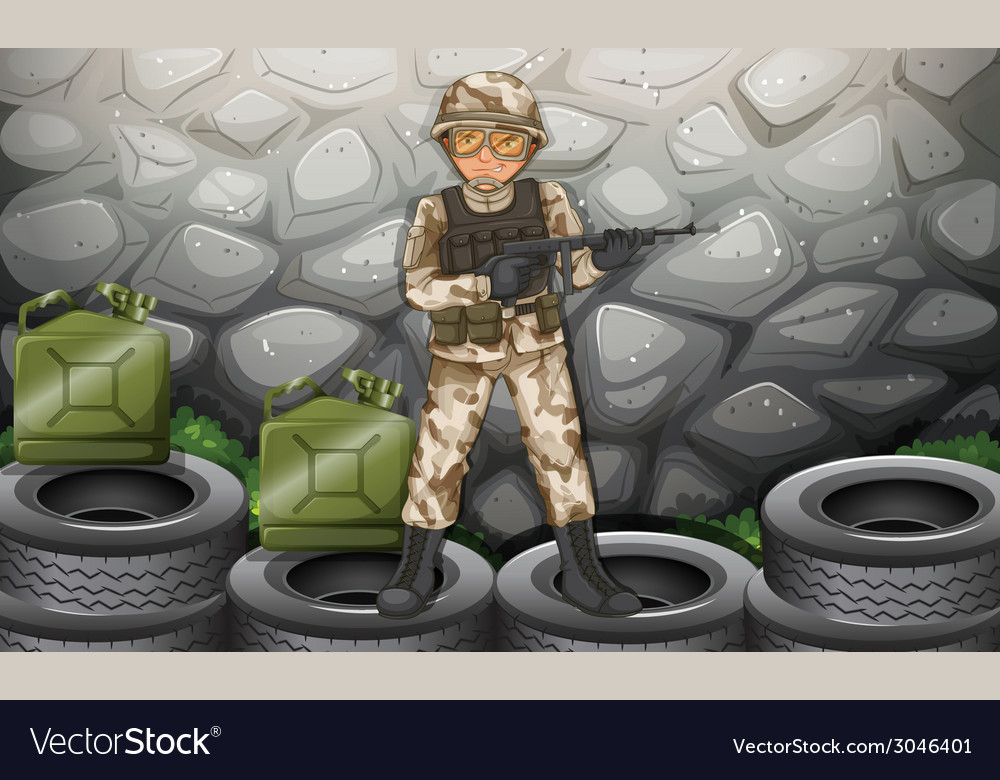 Soldier vector | Price: 3 Credit (USD $3)
