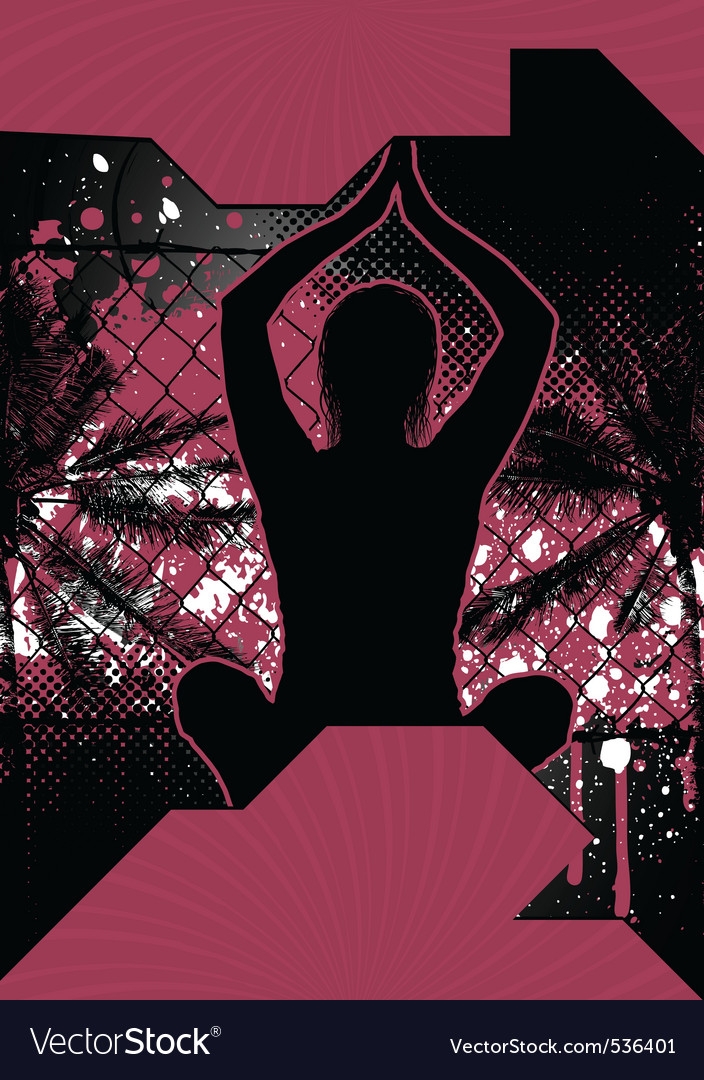 Yoga grunge poster vector | Price: 1 Credit (USD $1)