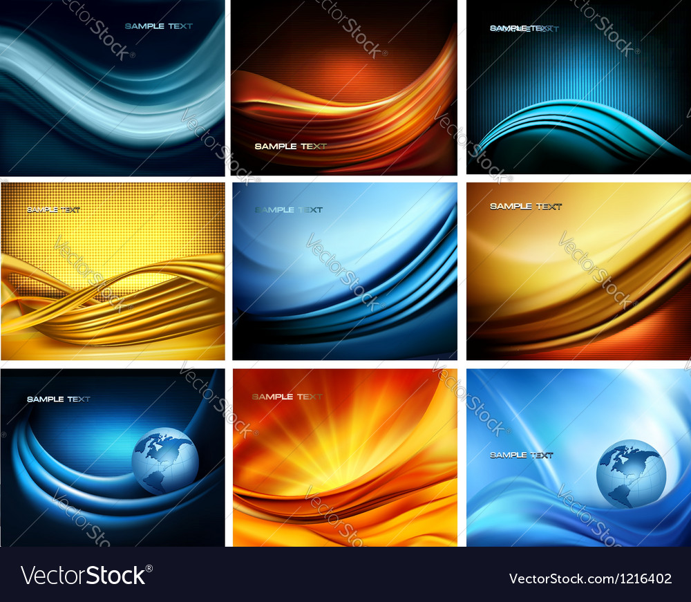 Big set of business elegant colorful abstract vector | Price: 3 Credit (USD $3)