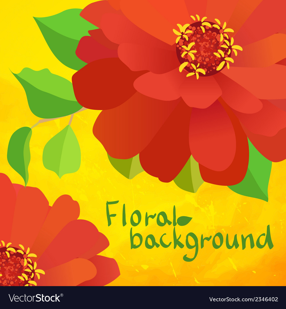 Border background with flowers vector | Price: 1 Credit (USD $1)