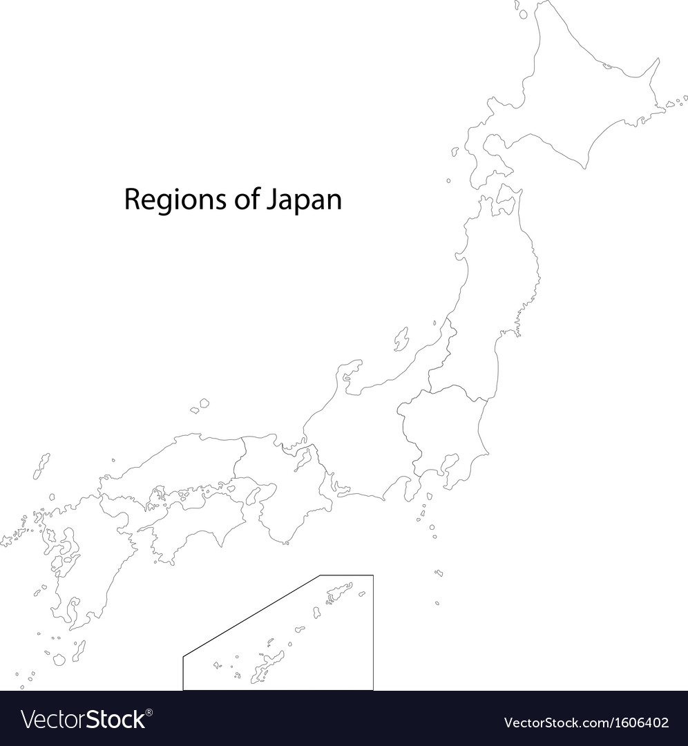 Contour japan map vector | Price: 1 Credit (USD $1)