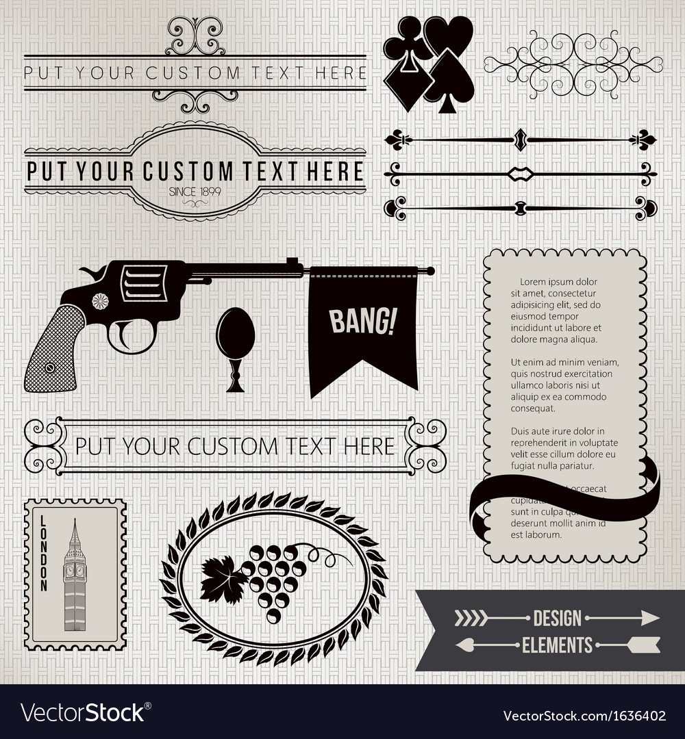 Design elements part 3 vector | Price: 1 Credit (USD $1)