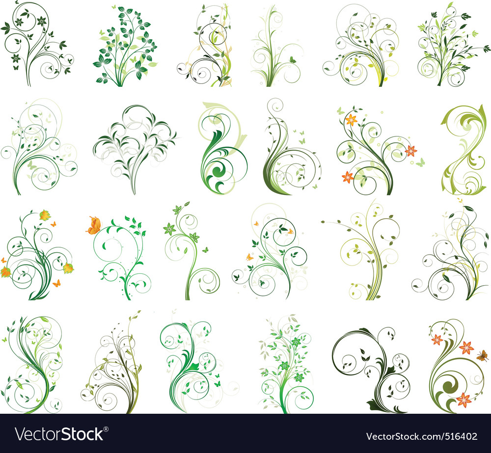 Floral set vector | Price: 3 Credit (USD $3)