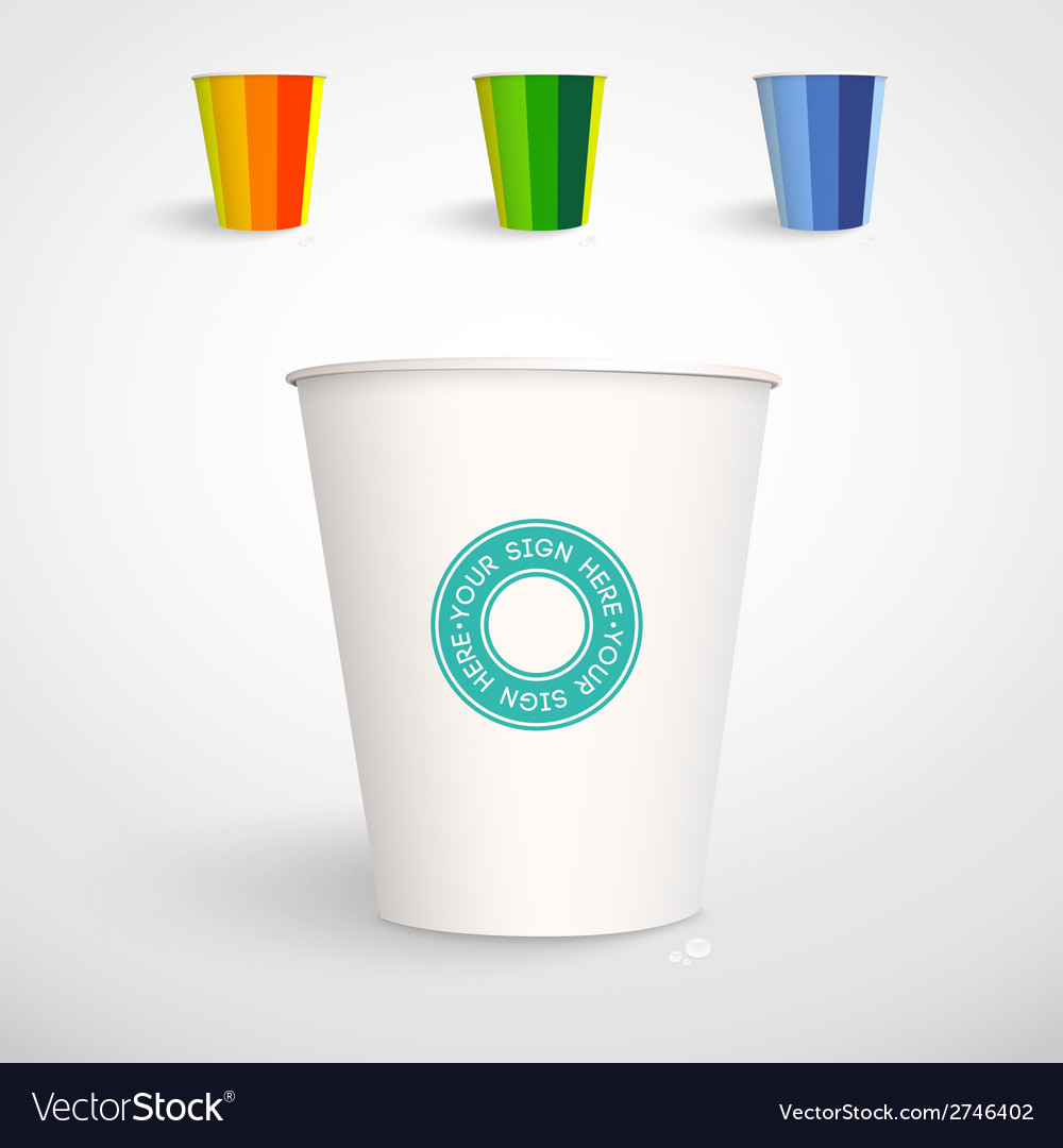 Realistic paper cup template vector | Price: 1 Credit (USD $1)