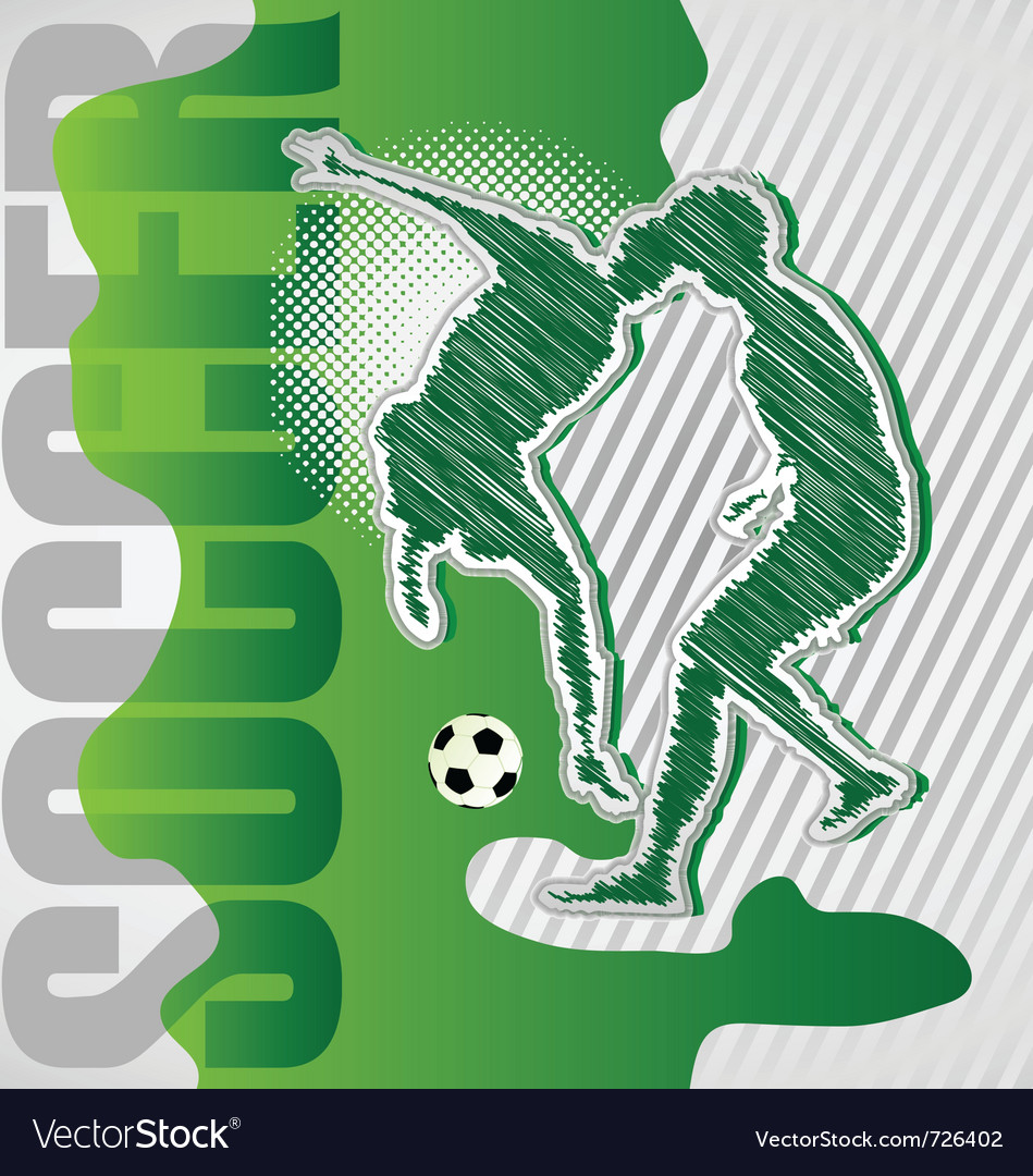 Scribble soccer poster vector | Price: 1 Credit (USD $1)