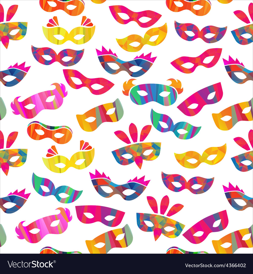 Seamless pattern with carnival masks vector | Price: 1 Credit (USD $1)