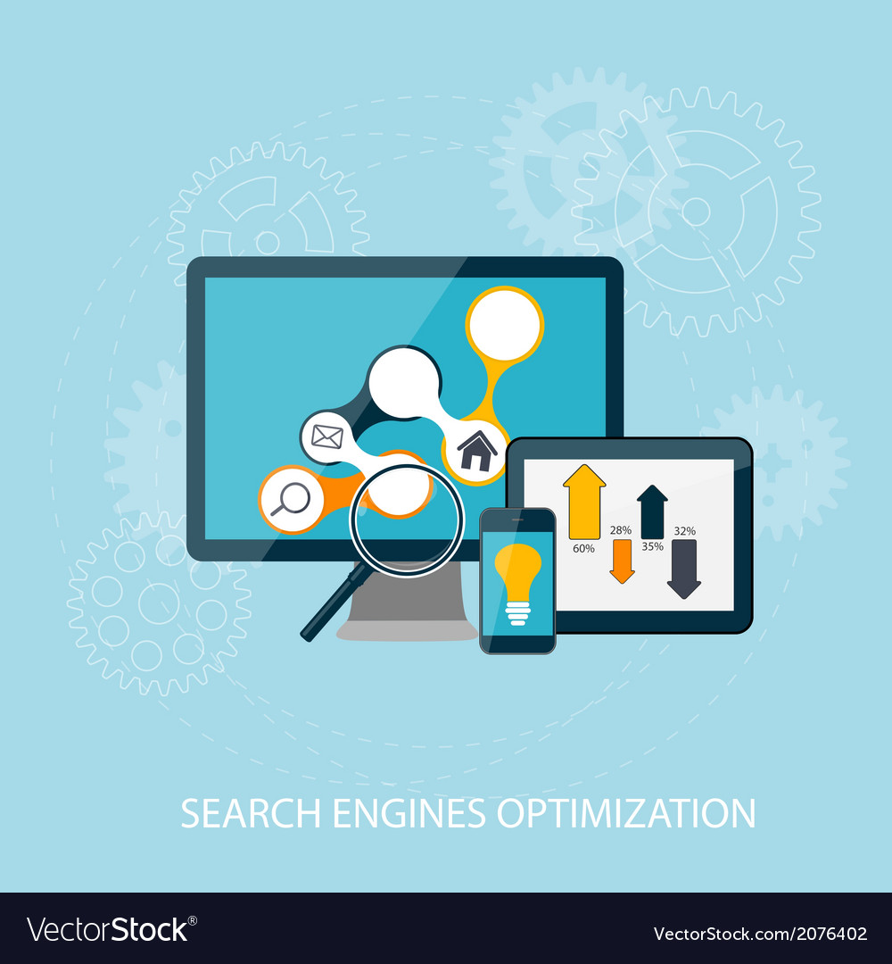 Search engines optimization concept vector | Price: 1 Credit (USD $1)