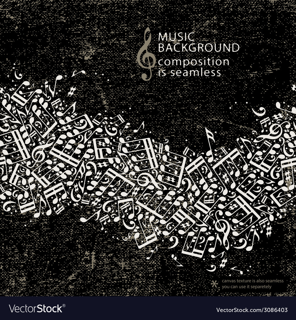 Abstract music background with seamless vector | Price: 1 Credit (USD $1)