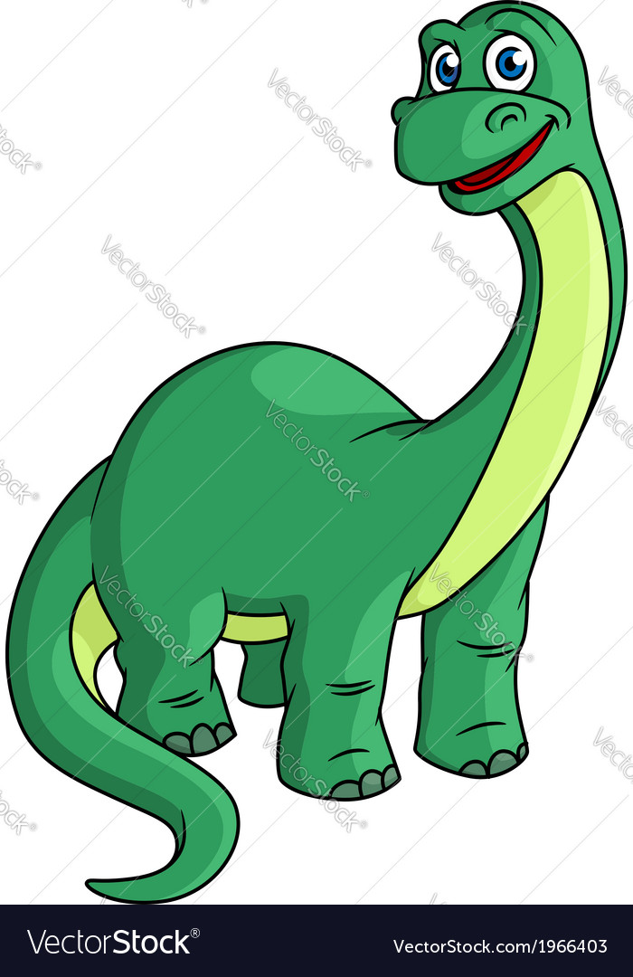Adorable green cartoon dinosaur mascot vector | Price: 1 Credit (USD $1)