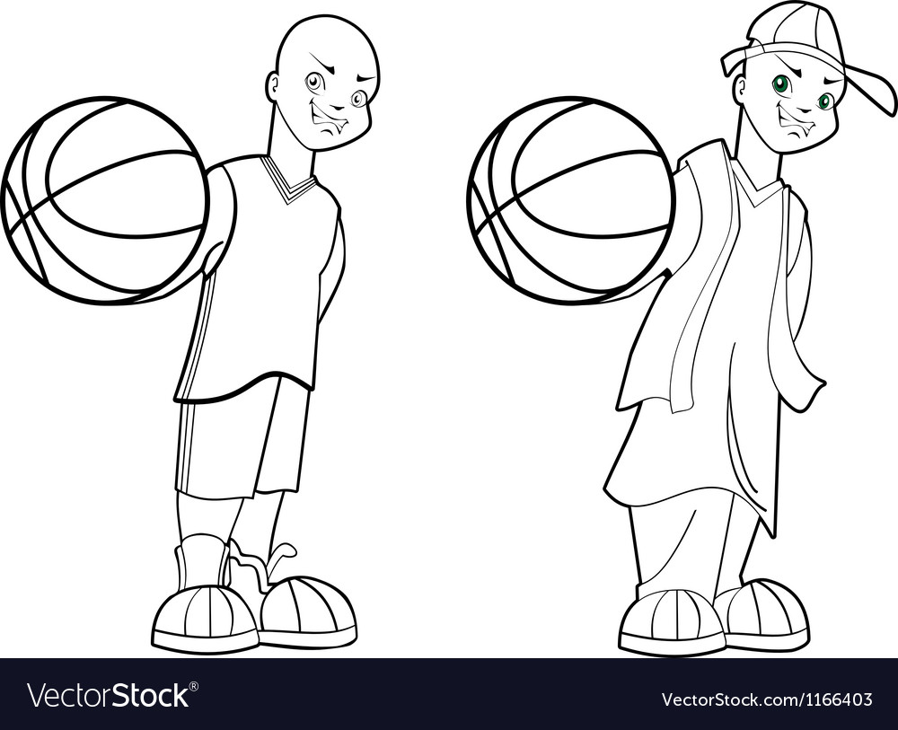 Basketball teen vector | Price: 1 Credit (USD $1)