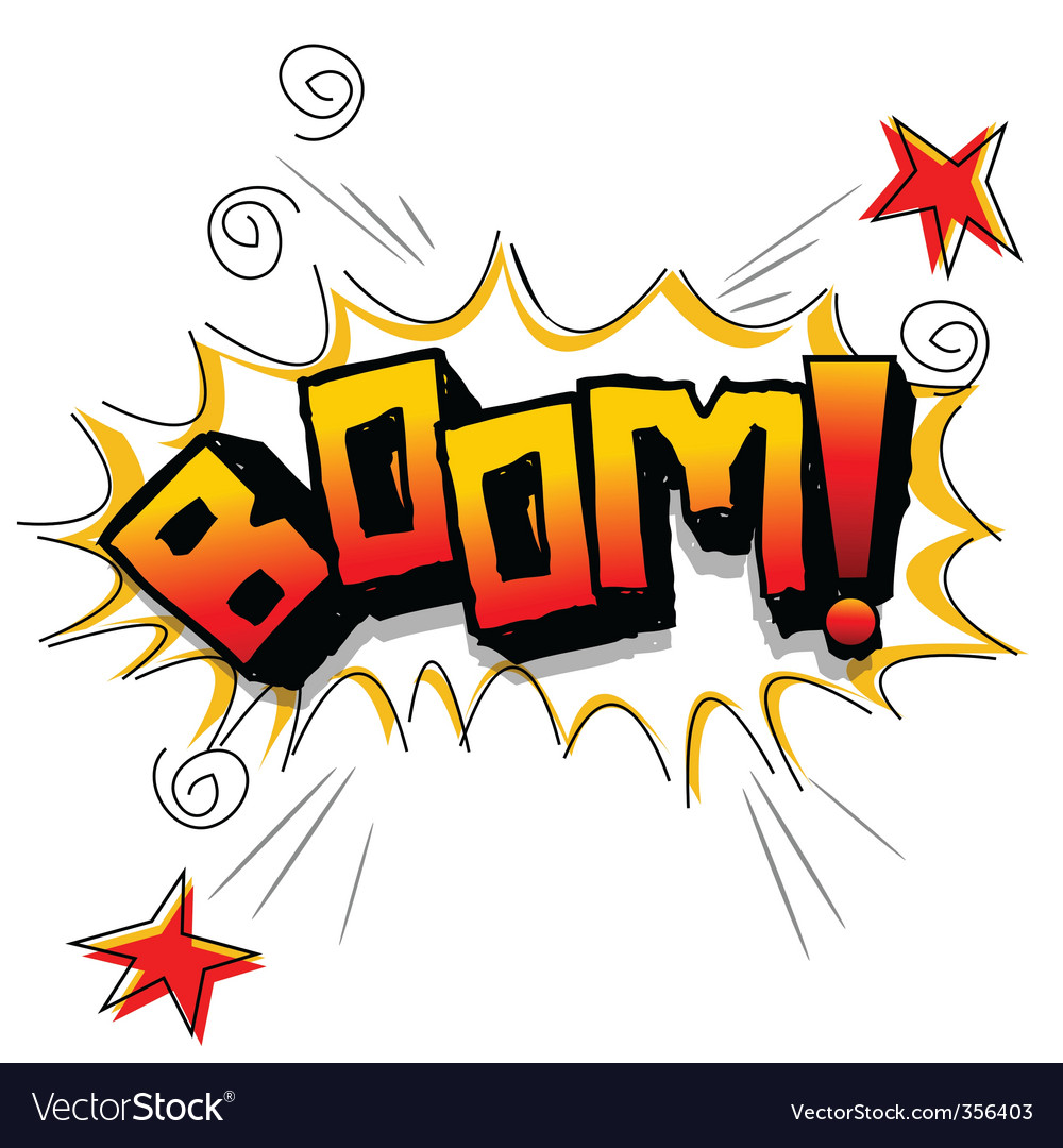 Boom with stars vector | Price: 1 Credit (USD $1)