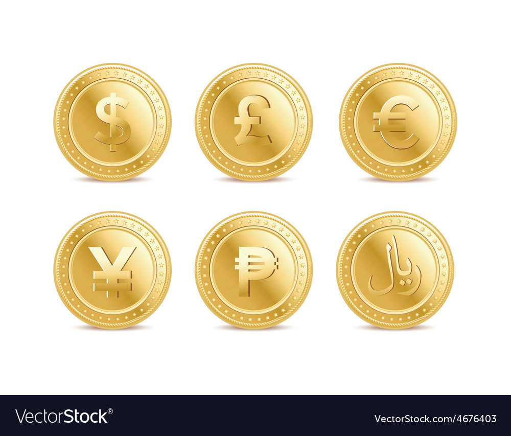 Currency coins vector | Price: 1 Credit (USD $1)