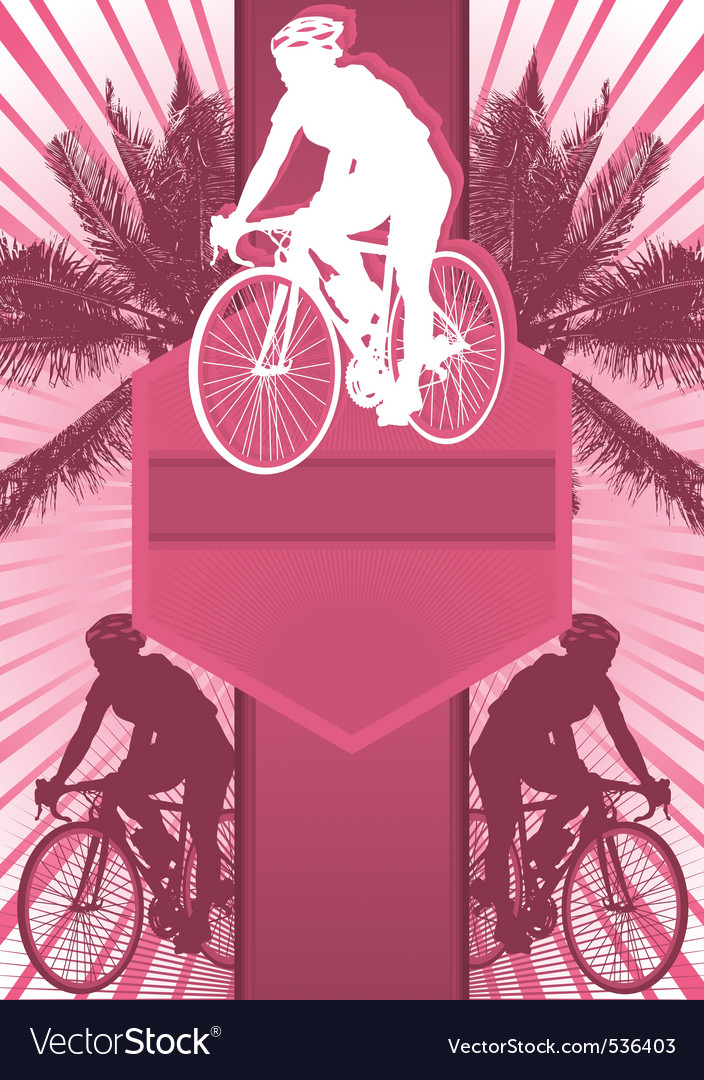 Cycling design poster vector | Price: 1 Credit (USD $1)