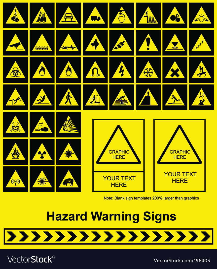 Hazard signs vector | Price: 3 Credit (USD $3)