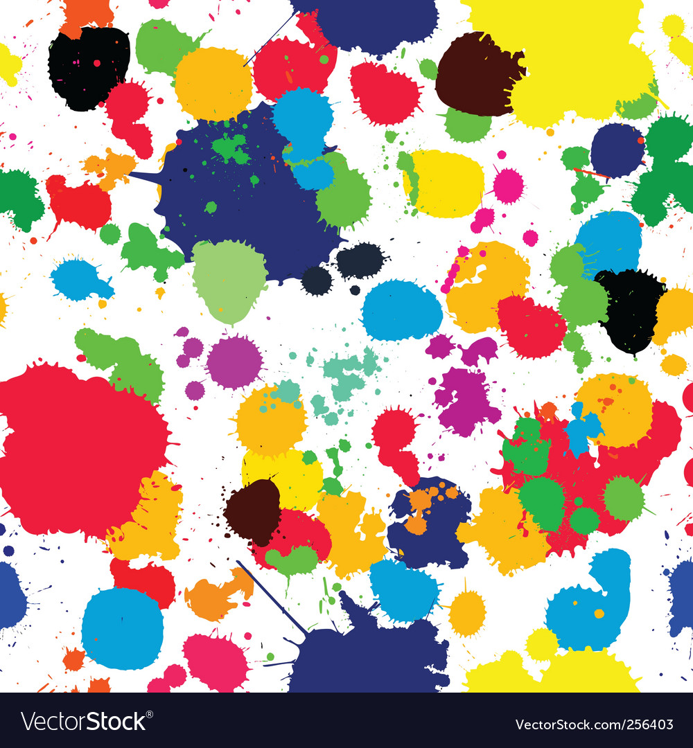 Ink splats pattern in colors vector | Price: 1 Credit (USD $1)
