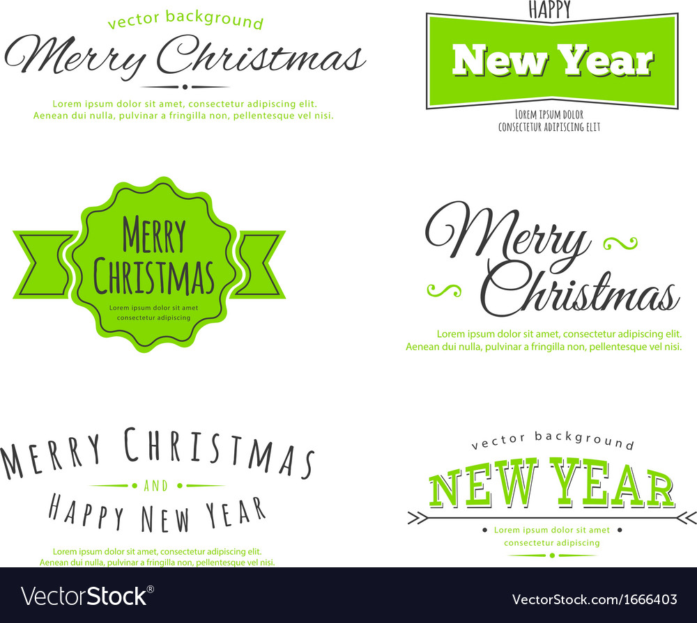Merry christmas type vector | Price: 1 Credit (USD $1)