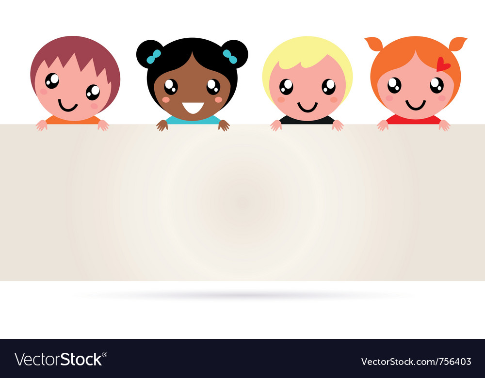 Multicultural kids vector | Price: 1 Credit (USD $1)