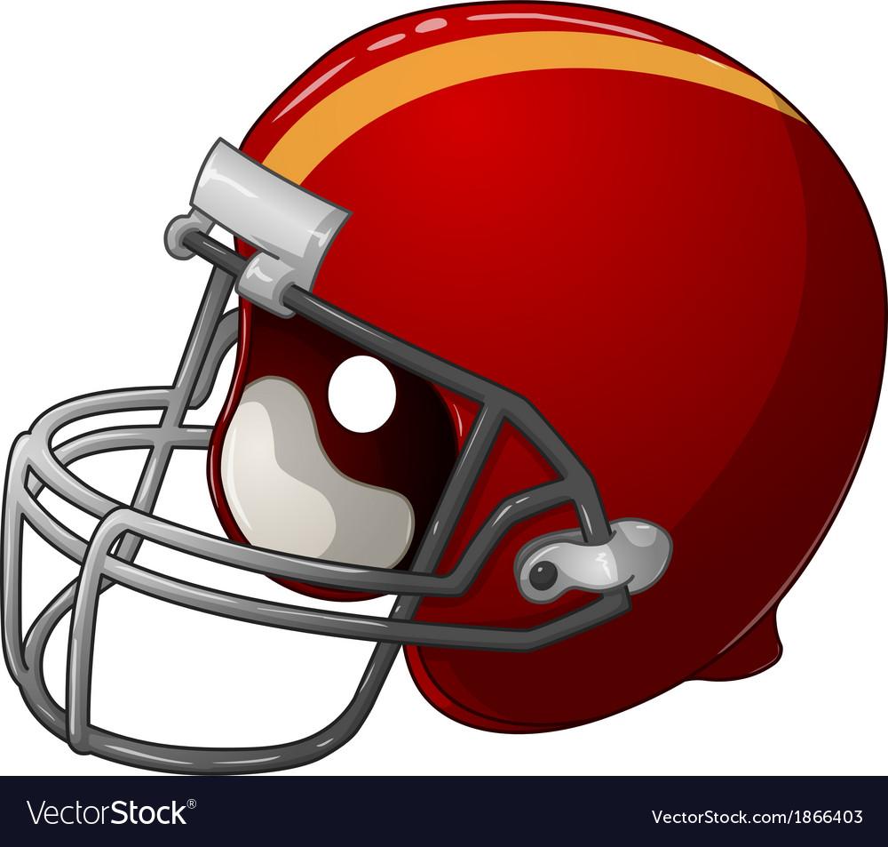 Red football helmet vector | Price: 1 Credit (USD $1)