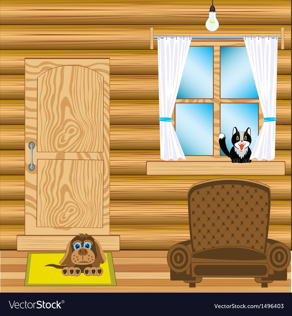 Room in wooden house vector   Price: 1 Credit (USD $1)
