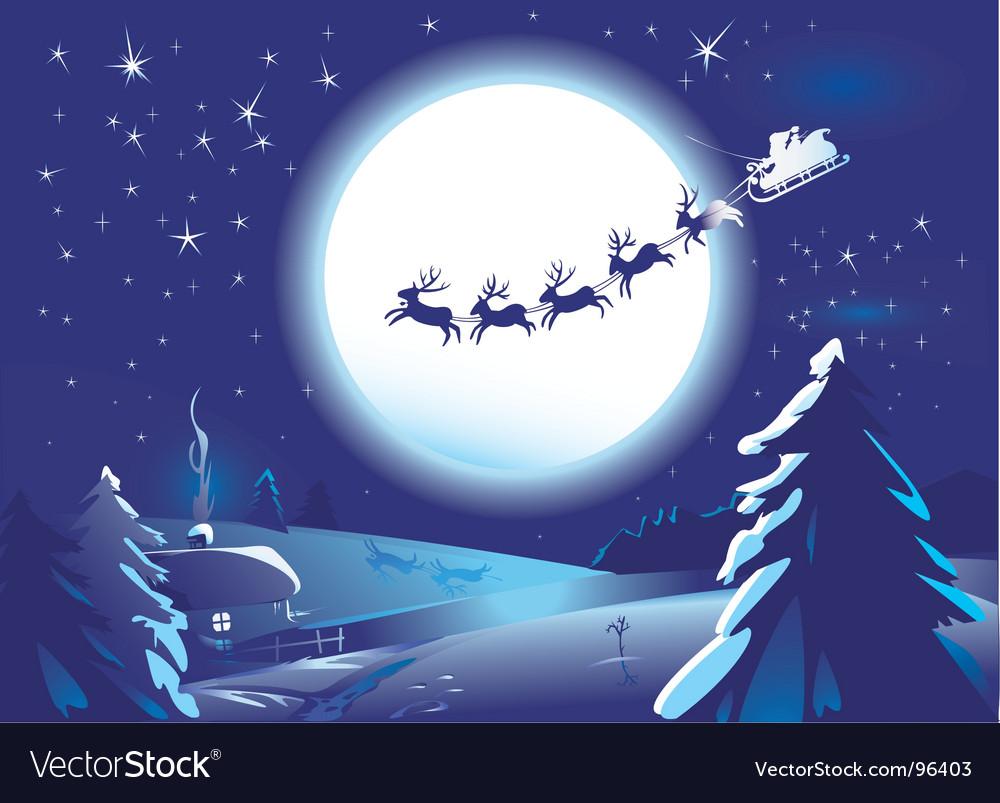 Santa claus sleigh vector | Price: 1 Credit (USD $1)