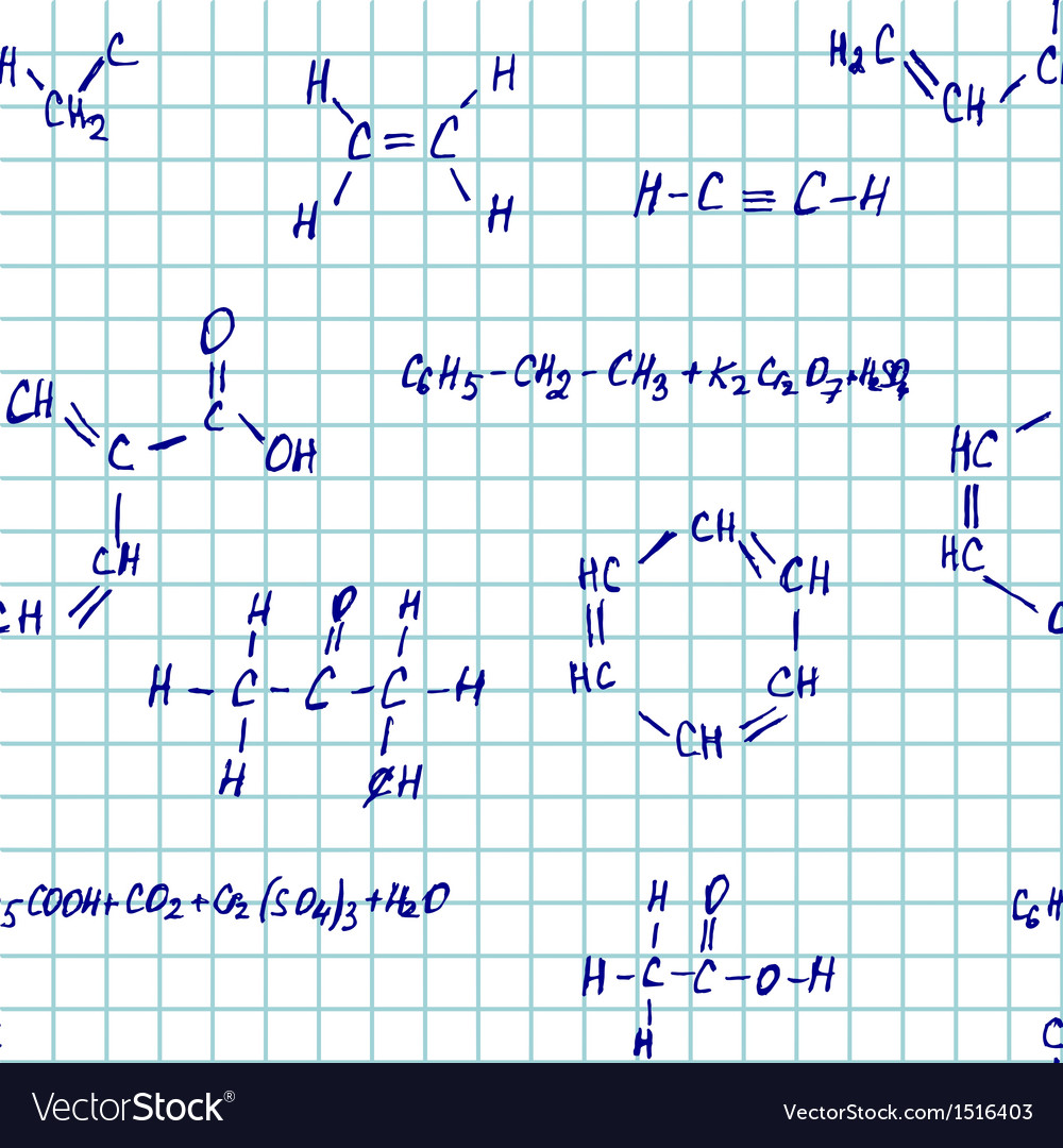 Seamlessly pettern - chemistry vector | Price: 1 Credit (USD $1)