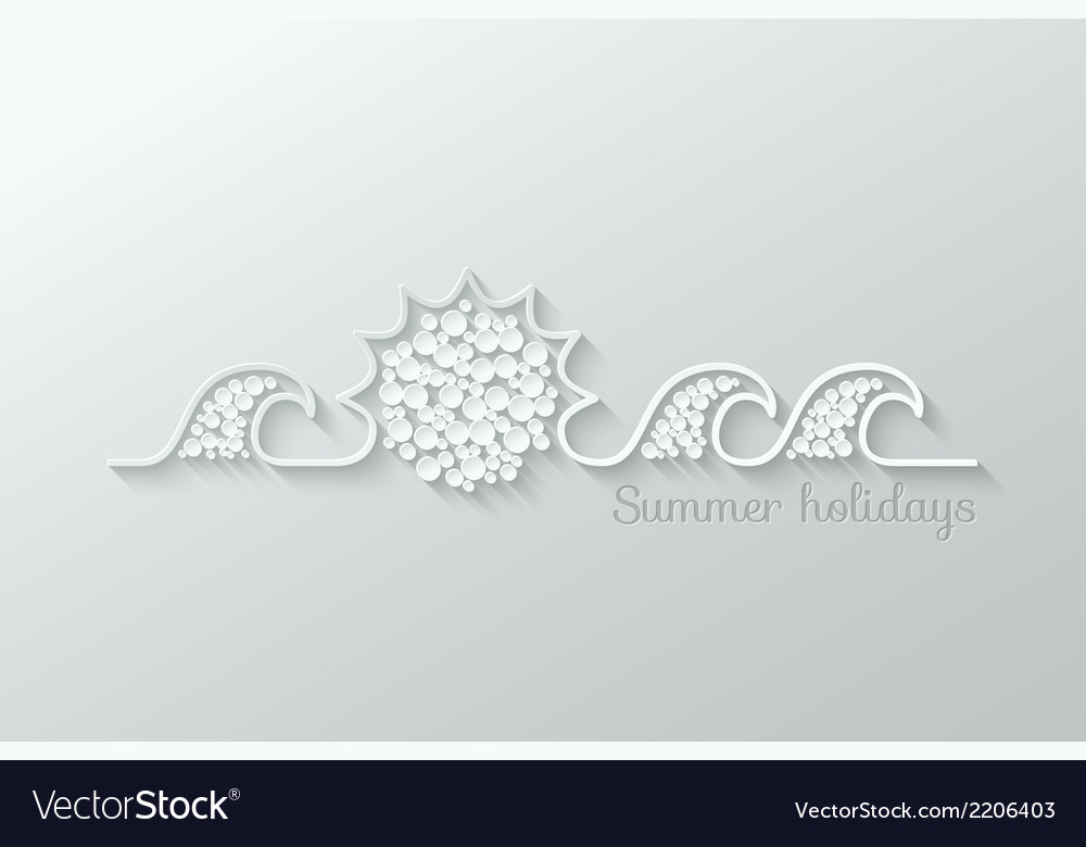Summer holidays paper cut design background vector | Price: 1 Credit (USD $1)