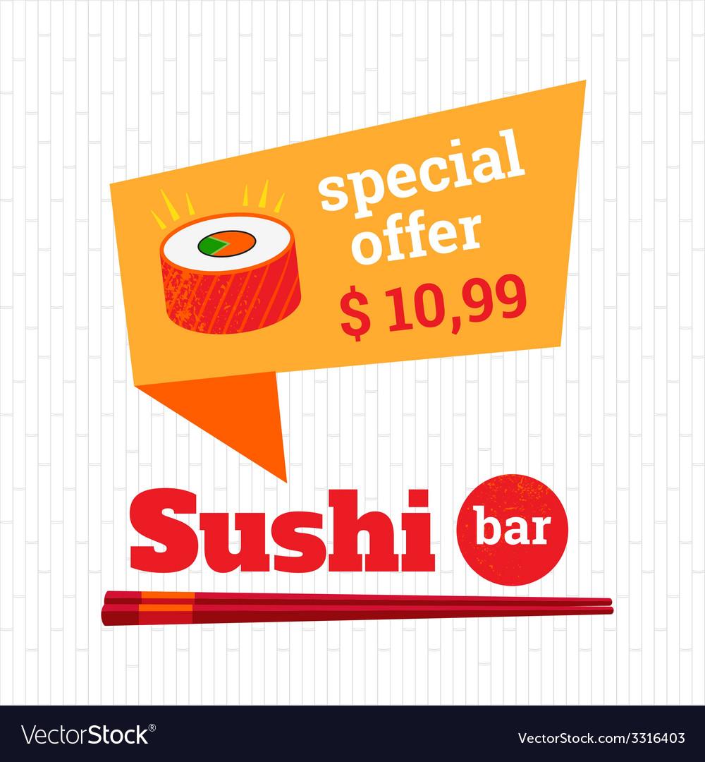 Sushi bar vector   Price: 1 Credit (USD $1)