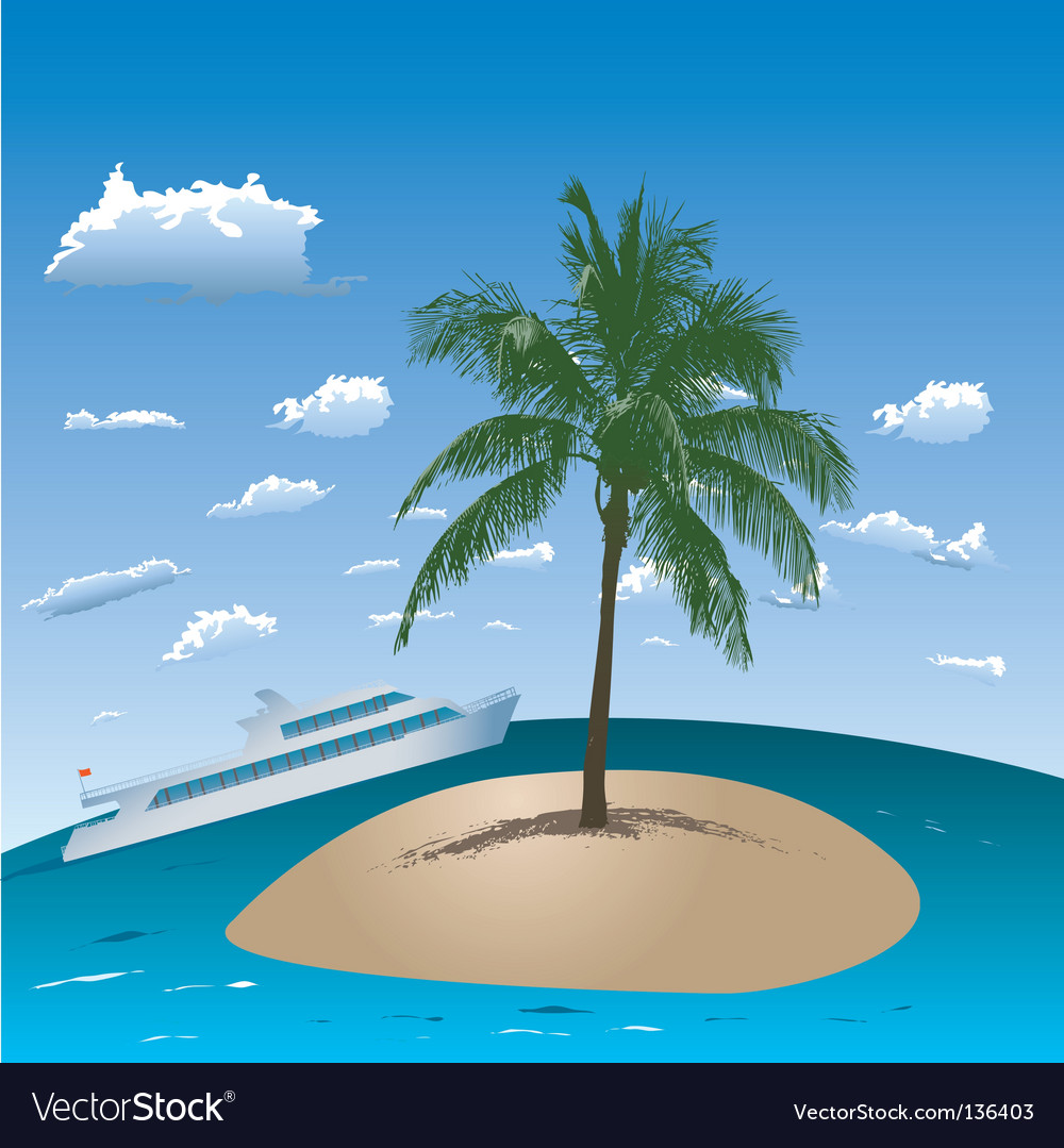 Tropical island vector   Price: 1 Credit (USD $1)