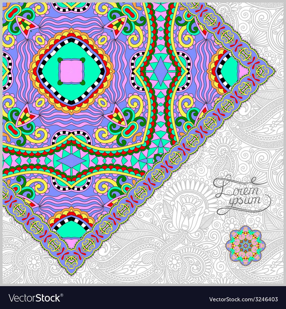 Unusual floral ornamental template vector | Price: 1 Credit (USD $1)