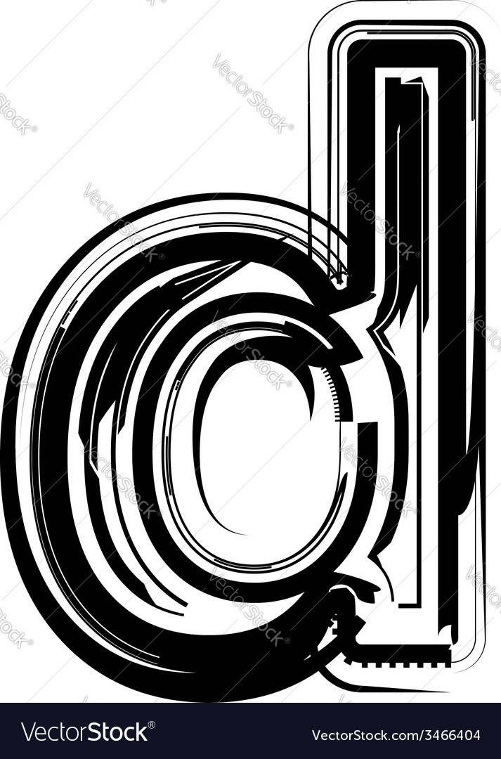 Abstract letter d vector | Price: 1 Credit (USD $1)