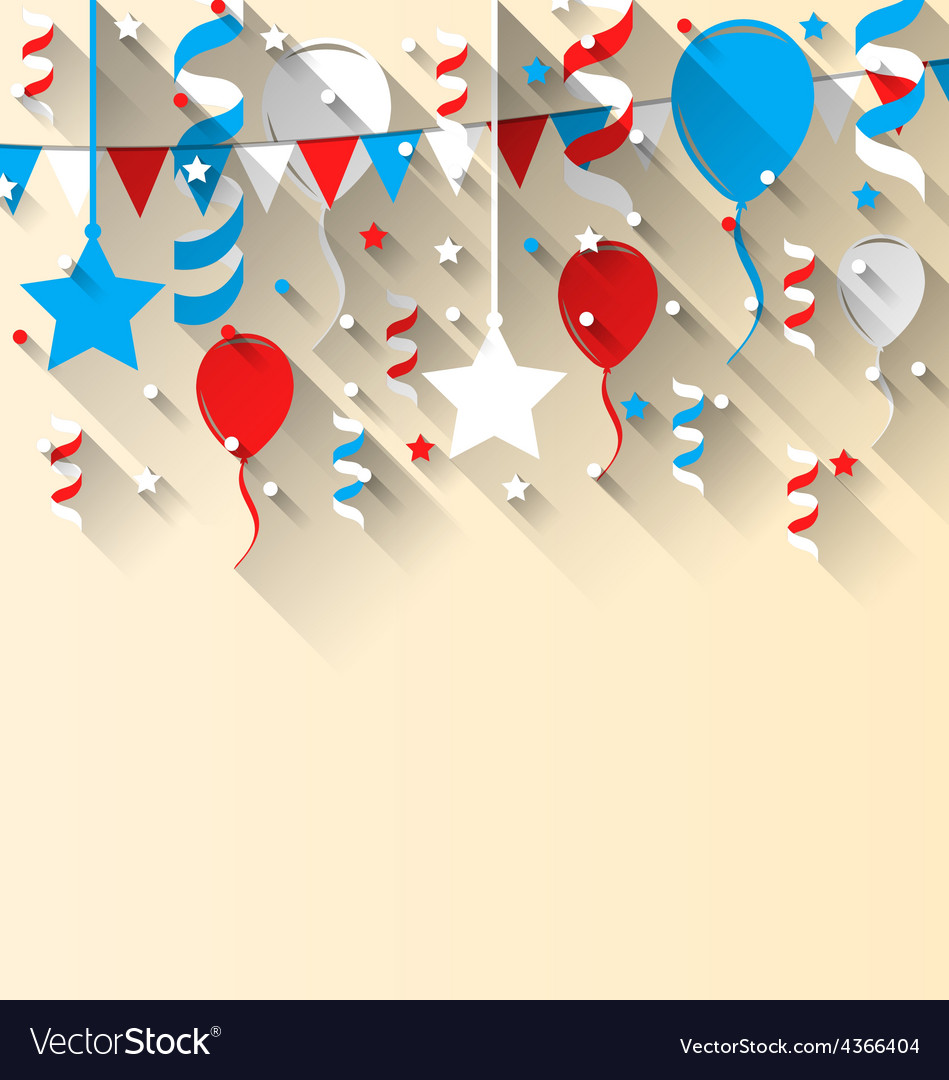 American patriotic background with balloons vector
