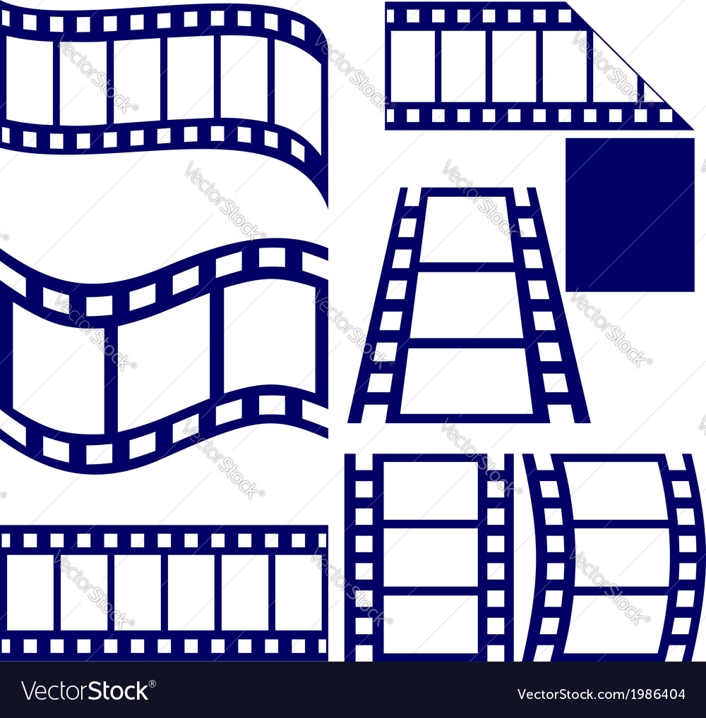 Film strip icon set vector | Price: 1 Credit (USD $1)