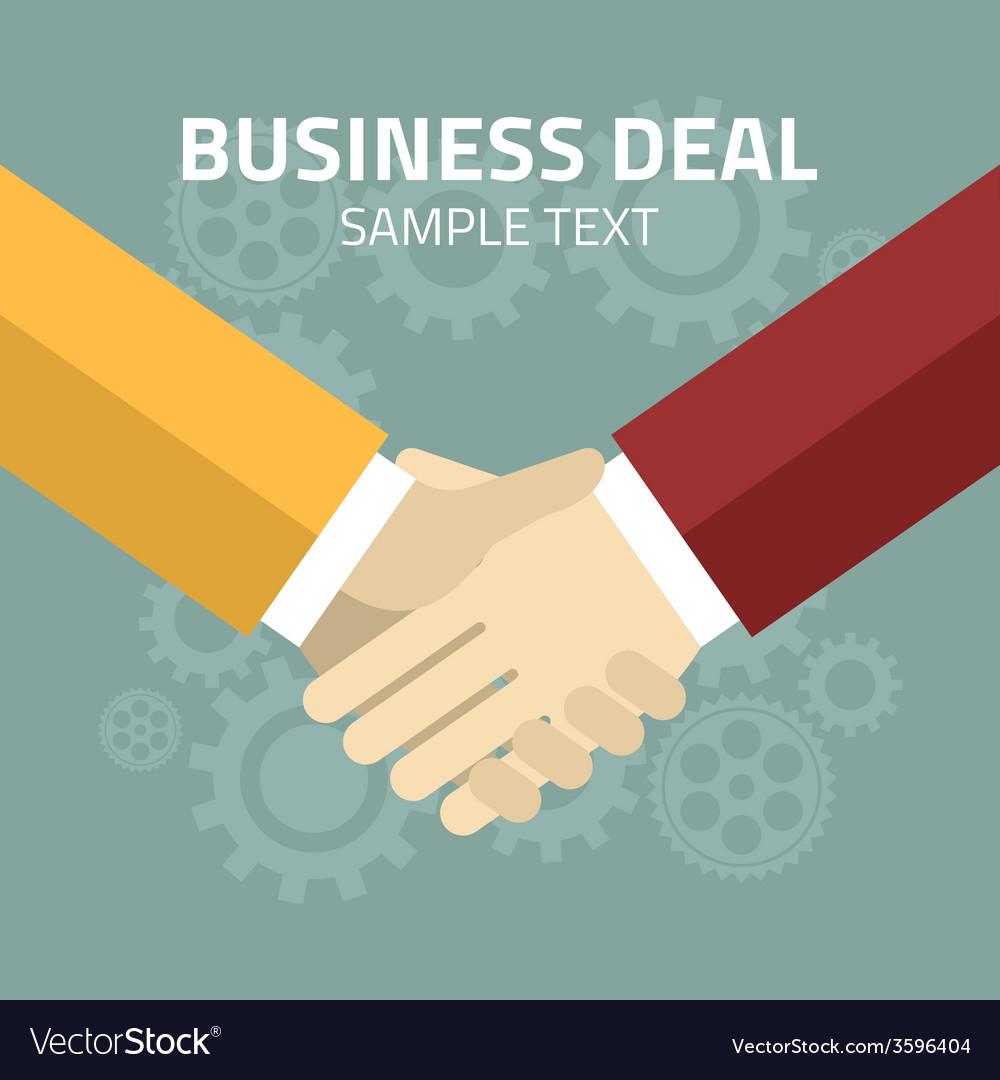 Flat design partnership concept handshake vector | Price: 1 Credit (USD $1)