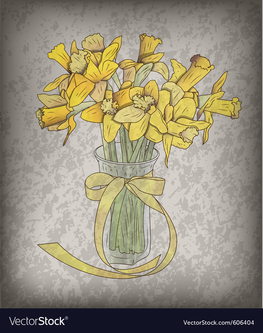 Flower on the old background vector   Price: 1 Credit (USD $1)