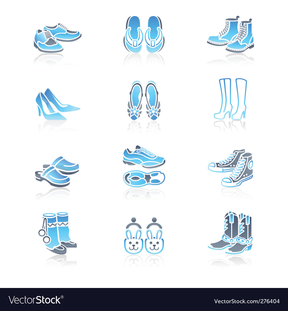Footwear icons  marine series vector | Price: 1 Credit (USD $1)