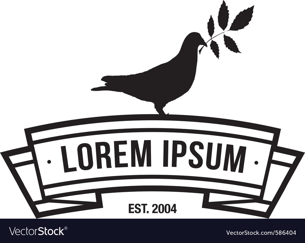 Logotype with a dove vector | Price: 1 Credit (USD $1)
