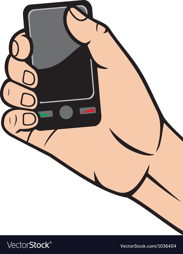 Mobile phone in hand vector | Price: 1 Credit (USD $1)