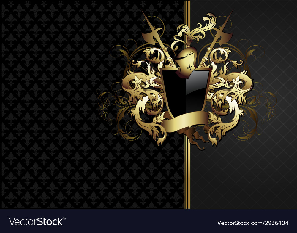 Ornate frame with arms vector | Price: 1 Credit (USD $1)