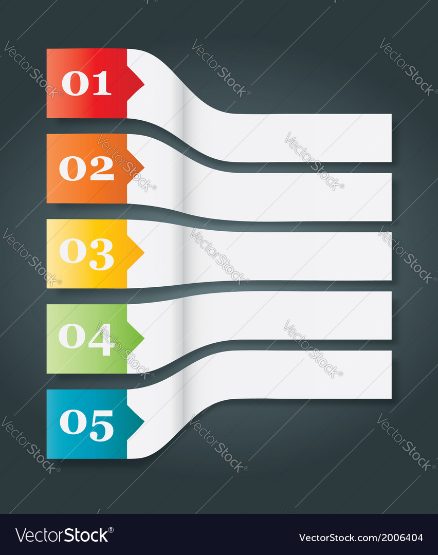 Perspective set of 5 numbered headers vector | Price: 1 Credit (USD $1)