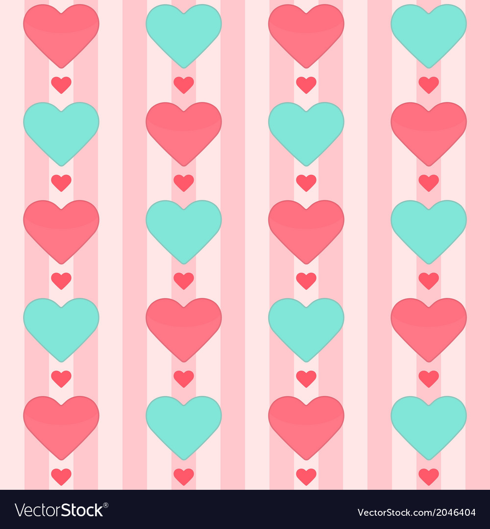 Seamless pattern with many hearts on a pink vector | Price: 1 Credit (USD $1)