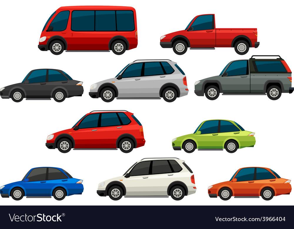 Set of vehicles vector | Price: 1 Credit (USD $1)
